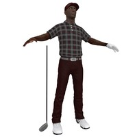 3d golfer player hat