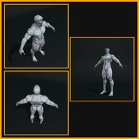 3d male trainer muscle