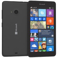 3d microsoft lumia 535 black model