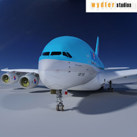 a380 korean air 3d obj