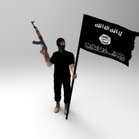 3d islamic fighter model