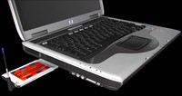 3d model laptop computer hp nx9030