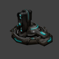 3d 3ds sci-fi turret