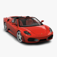 3d model of ferrari f430 spyder
