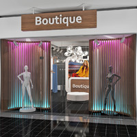 3d scene fashion boutique