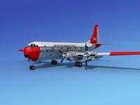 c-97 boeing stratofreighter 3d model