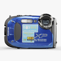 3d fujifilm finepix xp60 blue