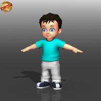 3d model cartoon kid