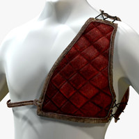 3d model archery chest protector zbrush