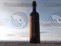 wine bottle c4d