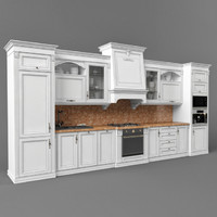 3d classic kitchen set model