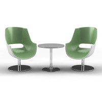 modern table chairs 3d model