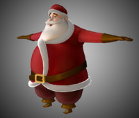 father christmas santa 3d obj