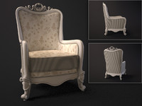 carpenter armchair 3d max