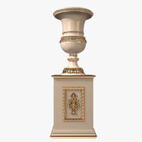 3d cappellini intagli classic vase model