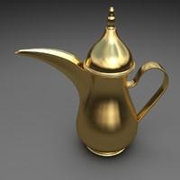3dsmax coffee pot arabic