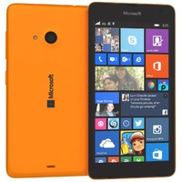 microsoft lumia 535 orange 3d 3ds