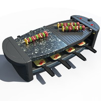 3d model grill