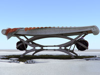 winter sunbathing bed 3d max