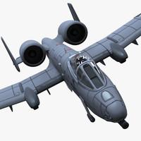 3d model a-10 warthog hog
