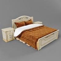 3d classic bedcloth bed desk
