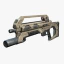 sci-fi rifle 3D models