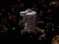 3d scifi space station model