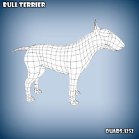 3ds max base mesh bull terrier