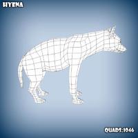 base mesh hyena 3d model