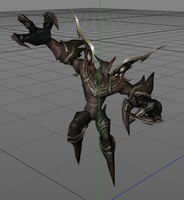 animations attack 3d model