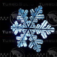 3d snow snowflake flake model