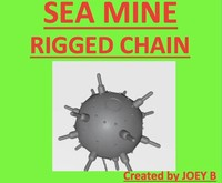 3d model sea chain rigged