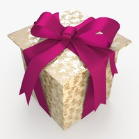 3d model christmas gift present box