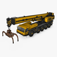 mobile crane industrial 3d model