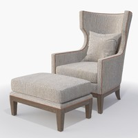 3d ironies - tule chair ottoman model