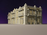 3d baroque latin house model