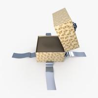 christmas gift present box 3d x
