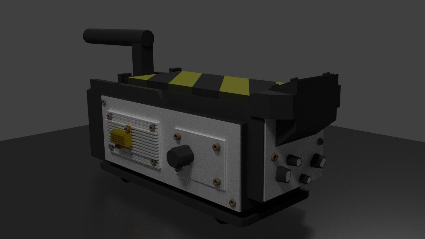 Ghostbusters trap 3d model - Geschilderde trapmodel ...