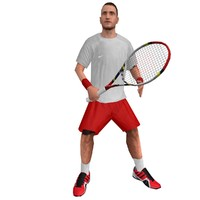 3d rigged tennis player 3