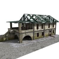 building abandoned 3d 3ds