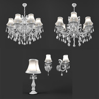 majo chandelier tablelamp bra 3d model