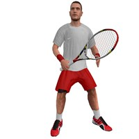 rigged tennis player 3 3d x