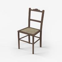 oak chair 18th century 3ds
