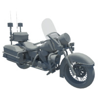 police motorcycle 3d max