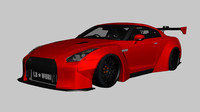 3ds max liberty walk nissan gt-r
