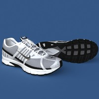 realistic sport shoes 3d model