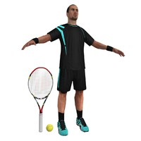 3ds max tennis player