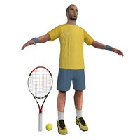 3ds max tennis player 2