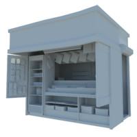3d kiosk s model