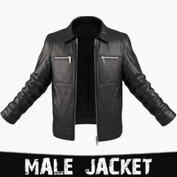 man jacket 3d max